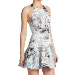 "PARKER Leona Halter/Fit & Flare Dress in ""Aegean"""